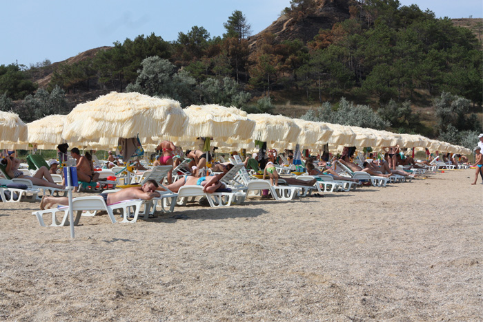 Пляж в санатории Черноморец